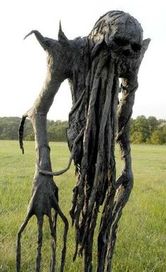 Scary scarecrow. Think this will keep the birds away?