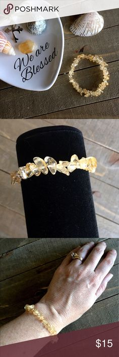 Handmade Natural Citrine Stretch Bracelet The stone of ABUNDANCE! I created this natural Citrine gemstone bracelet to attract abundance, prosperity and success. It also increases creativity and imagination & attracts love and happiness. Handmade Jewelry Bracelets