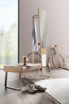 Spiegel mit Garderobenfunktion BHT ca. 140/182/50 cm