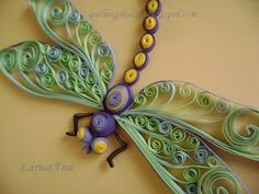 Fairy tale about quilling: Dragonfly Quilling Butterfly, Origami And Quilling, Quilled Paper Art, Quilling Paper Craft, Paper Beads, Origami Paper, Paper Crafts, Butterflies, Quilling Images