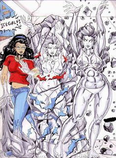 Hello all, Here is a commission I had She-Giant Artist do for me year ago. I have always wanted to see an Icewoman done just the Iceman from the Spi. Angela becomes Icewoman Female Muscle Growth, The Iceman, Bug Art, Spiderman, Beast, Comic Books, Deviantart, Artist, Anime