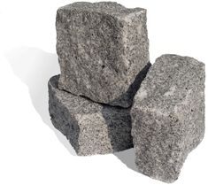 Fine grey granite setts in a natural finish, exclusively sourced from an ethically run Portuguese quarry with UK wide shipping and expert advice Grey Flooring, Granite, It Is Finished, Gardens, Gray Floor, Granite Counters, Outdoor Gardens, Garden, House Gardens