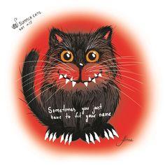 Sometimes you just have to fit your name. KOT #13   #88summercats #art #print #kot #cat #catart #qoute #kotquote #smile #smilingcat #happycat