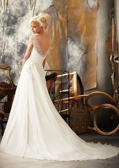 Back - Mori Lee by Madeline Gardner 2012 + My Dress of the Week - Belle the Magazine . The Wedding Blog For The Sophisticated Bride