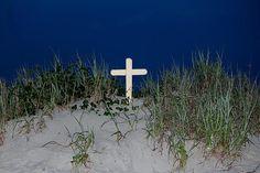 Cross on the beach.