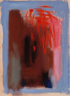 Casey Klahn, Red, pastel, 20 x 12 in.