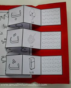 Making learning the Arabic alphabet fun with this free lapbook series! Alphabet Activities, Teaching Activities, Learning Resources, Kids Learning, School Resources, Arabic Alphabet Letters, Arabic Alphabet For Kids, Abc Alphabet, Teaching Methods