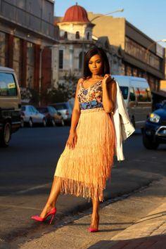 Snapshot: Bonang Matheba for Glam Africa Magazine Night Outfits, Casual Outfits, Smart Casual Women, Retro Fashion, High Fashion, Fashion Tips For Women, African Dress, Festival Outfits, Foto E Video