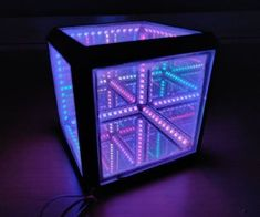 This infinity cube, however, has a frame that is printed in one piece. Making the build a lot stronger and easier than most other projects. The size of the cube is chosen so only of LED strip is needed for the entire cube, keeping the cost low. Arduino Controller, Mirrors Film, Arduino Board, Performance Tyres, Diy Speakers, Power Led, Cube Storage, Circuit Board, Things That Bounce
