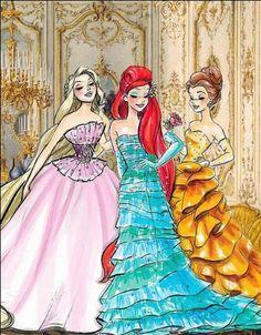 Vintage Princesses. So Pretty!