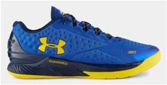 Under Armour Ua Curry 1 One Low Home Basketball Shoes Royal Blue