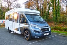 2018 Hobby Optima De-Luxe GQ Brand new, unregistered 3 berth fixed island bed model. This particular example comes fitted with a Thule Omnistor roll out canopy and single lens reversing camera. Combi Oven, Used Motorhomes, Extractor Hood, Water Heating, Southampton, Water Tank, Rear Seat, Gq, Canopy