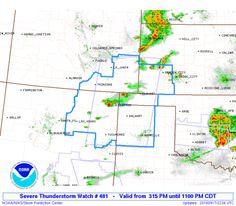 SPC Severe Thunderstorm Watch 481 - http://blog.clairepeetz.com/spc-severe-thunderstorm-watch-481/