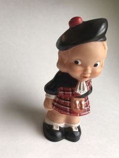 Cute Combex Squeak Toy Plaid Scottish Girl With Tam | Toys & Hobbies, Stuffed Animals, Other Stuffed Animals | eBay!