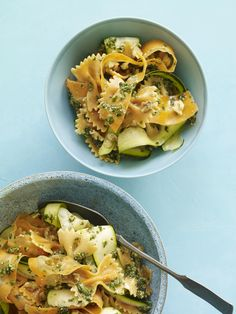 Zucchini-Carrot Ribbons with Farfalle #myplate