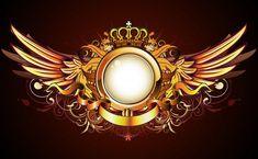 Bingkai emas heraldik — Stok Gambar Royal Wallpaper, Instagram Cartoon, Angel Artwork, Logo Gallery, Wings Logo, Wings Design, Photography Illustration, Photo Logo, Dark Fantasy Art
