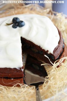 ciasto bez mąki czekoladowe Z BORÓWKAMI i SYROPEM~ Dietetycznie Siostro!