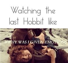 Pretty much...couldn't hold the tears in when Kili died :( The Hobbit: Battle of the Five Armies <<< I lost it when Bilbo started crying, I just couldn't.