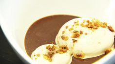 Cremeux van chocolade, espuma van koffie en een crumble van hazelnoot en amandel   VTM Koken