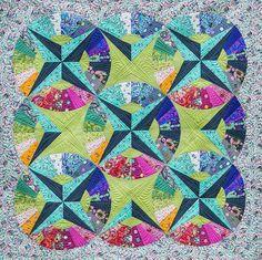Fandango Quilt Kit by FreeSpirit using Tula pink fabrics.