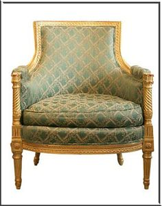 Have a reproduction of this Napoleon III style chair.  Must have it re-upholstered.