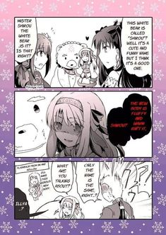 Why Sitonai name her bear Shirou Short Comics, A Comics, Anime Comics, Funny Comics, Fate Stay Night Series, Fate Stay Night Anime, Gilgamesh Fate, Shirou Emiya, One Punch Anime