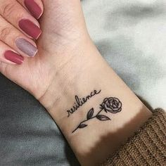 "i want ""resilience"" going up the back of my ankle"