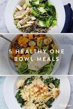 5 Healthy One-Bowl Recipes via @PureWow