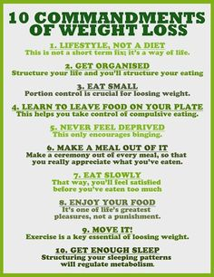 The 10 commandments of weight loss. #getfit