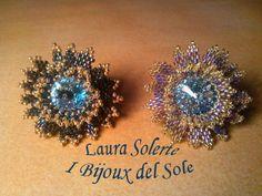 Swarovski crystal  acquamarina and Miyuki beads