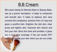 It helps to protects your skin from sun rays and moisturize your skin act as a primer . Blemish Balm, Clear Pores, Too Faced Foundation, Beauty Balm, Dull Skin, Skin Tightening, Moisturizers, Smooth Skin, Concealer