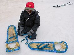 Here's how Webelos Scouts in North Carolina make homemade snowshoes.