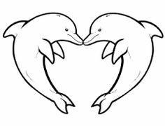 Image Result For Patrones De Delfines Para Hacer Con Silicona Dolphin Coloring Pages Animal Templates Coloring Pages