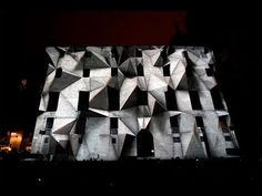 'Axioma' - 3D projection mapping at LLUM BCN Festival 2016 in Barcelona.