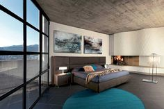 modern wardrobes, design beds, night complements and accessories, walk-in closets Upolstered Bed, Bed Design, House Design, Bed In Corner, Modern Wardrobe, Walk In Closet, Sliding Doors, Modern Beds, Modern Contemporary