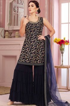 Western Tops, Western Wear, Palazzo With Kurti, Sharara Suit, Festival Looks, Festival Dress, Work Tops, Crepe Fabric, Western Dresses