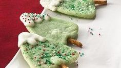 Snow-Capped Christmas Tree Cookies