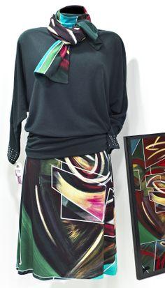 Conjunto Vas hecha un cuadro by  Maite Cobo, #fashion #arte #skirt