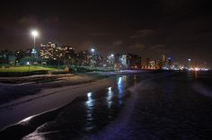 Perfect Durban Night Night City, City Lights, Live, East Coast, South America, Birth, Cities, Traveling, African