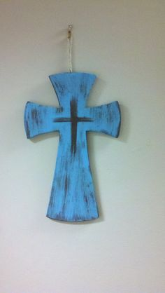 Your place to buy and sell all things handmade Painted Wooden Crosses, Decorative Crosses, Wood Crosses, Hand Painted, Easy Diy Crafts, Crafts To Sell, Crosses Decor, Cross Crafts, Easter Cross