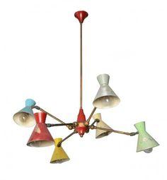 PRODUZIONE ITALIANA Lampada a sospensione con coni : Lot 170
