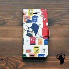 ハンドメイドマーケット minne(ミンネ)| クルトの配達/Bitte Mitte!☆iPhone6s/6 ケース 手帳【iPhoneケース/アイフォン6s/アイホン6s/手帳/手帳型/くま/ポスト/手紙】