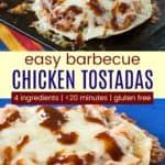Easy Bbq Chicken, Canned Chicken, Shredded Chicken, Ww Recipes, Easy Dinner Recipes, Cooking Recipes, Chicken Tostadas, Lunches And Dinners, Meals