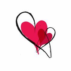Trouwkaarten - moderne harten
