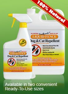 Natural Dog/Cat Repellent - keep dogs, cats from digging up your garden.