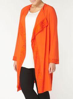 Live Unlimited Orange Jacket - Evans