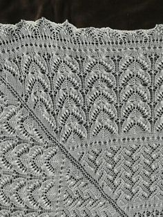 Magnum opus - detail of estonian knitted lace
