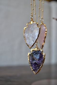 Love these little Arrowhead Layering necklaces. Perfect everyday necklace! An Arrowhead electroformed with 24kt Gold around the edges hangs on a 14kt