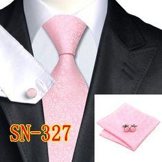 Fashion Novelty Tie Silk Jacquard Necktie Hanky Cufflinks Set Business Wedding Ties For Men shipping