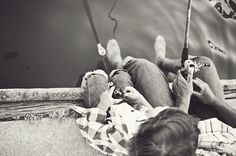 father and son fishing
